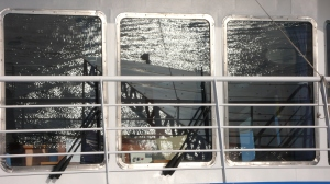 Reflection in  Ferry Window